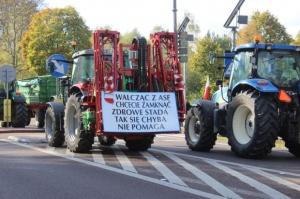 Lubelskie: Rolnicy wznowili protest na drodze krajowej nr 2