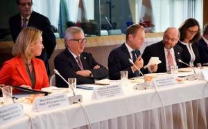 Jean-Claude Juncker, Donald Tusk, Martin Schulz, Federica Mogherini, fot. © European Union, 2016