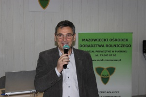 Jarosław Grabowski, dyrektor Oddziału Poświętne w Płońsku Mazowieckiego Ośrodka Doradztwa Rolniczego