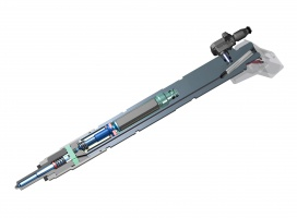 Przekrój wtryskiwacza piezoelektrycznego