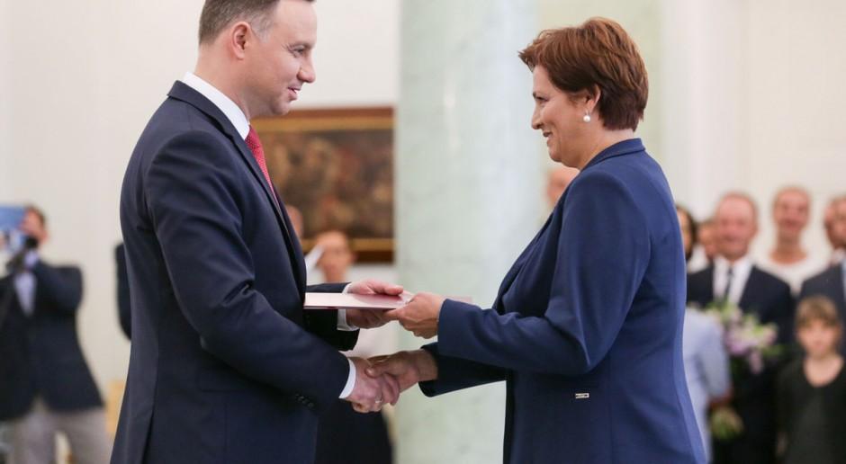 Prezydent do Szymańskiej: Jestem przekonany, że wykona pani obowiązki jak najlepiej
