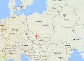 Lokalizacja pierwszego przypadku ASF w Czechach (fot. KZP-PTCh)