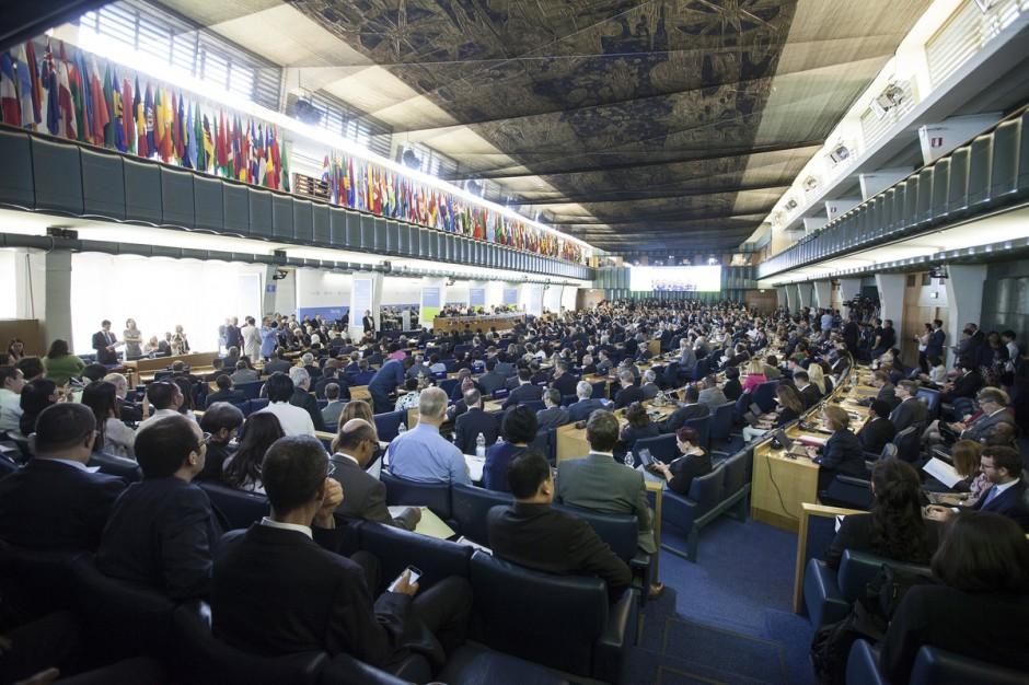 W siedzibie FAO w Rzymie rozpoczęła się 40. konferencja Organizacji Narodów Zjednoczonych ds. Wyżywienia i Rolnictwa (FAO). Fot. ©FAO/Carlo Perla