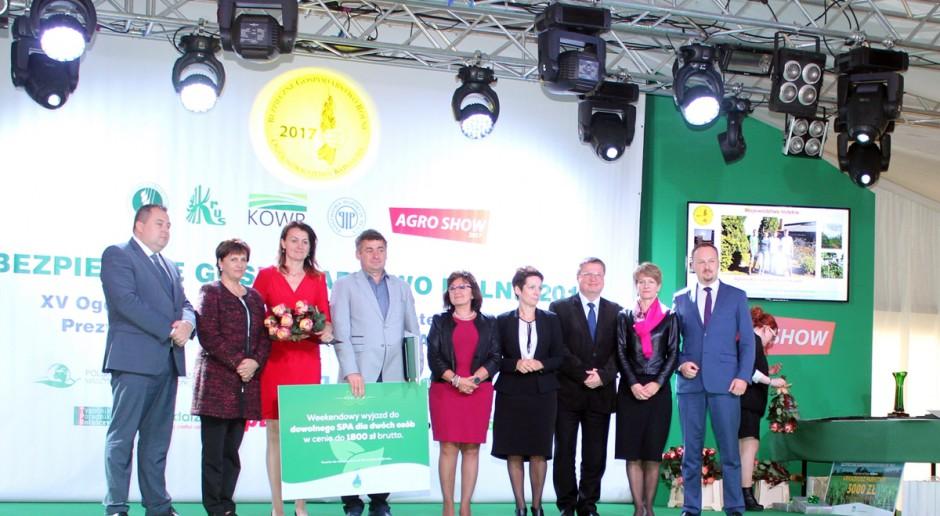 PSOR i KRUS nagrodzili bezpieczne gospodarstwa