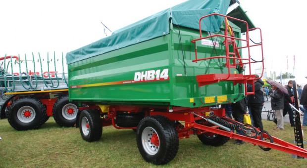 Przyczepa Metaltech DHB 14 z hydrauliczną burtą