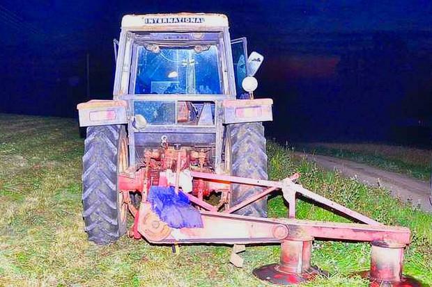 Wypadek przy koszeniu łąki