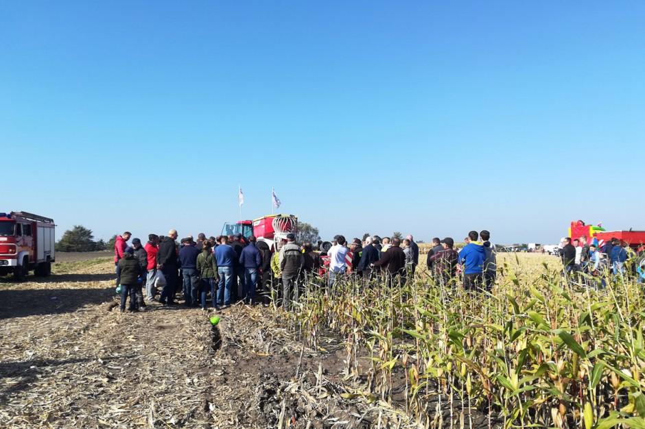 Na Skrzelewskiej imprezie nie zabraknąć mogło także pokazów polowych, sprzętu wykorzystywanego między innymi w uprawie kukurydzy; Fot. Anna Kobus