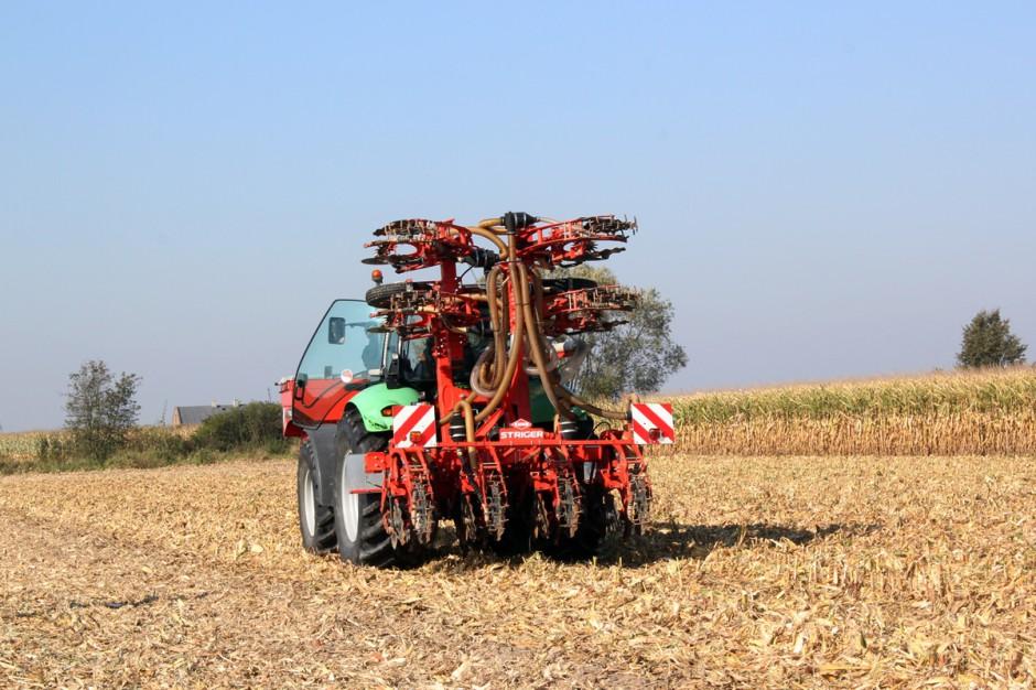 W tym roku na polach w akcji można było podziwiać między innymi pracę kultywatora STRIGER firmy Kuhn przeznaczonego do uprawy pasowej (strip till). Fot. Anna Kobus