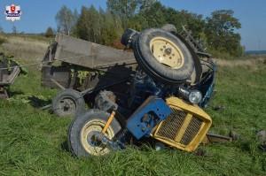 Rolnik zginął na polu przygnieciony ciągnikiem