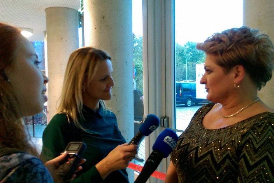 Agnieszka Gremza, laureatka 1. miejsca, udziela wywiadu.