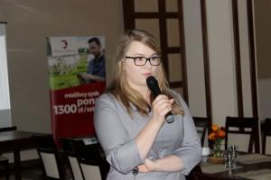 Monika Przeworska z PZPBM, prowadząca spotkanie z producentami