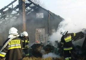 Spłonęła stodoła i budynki gospodarcze