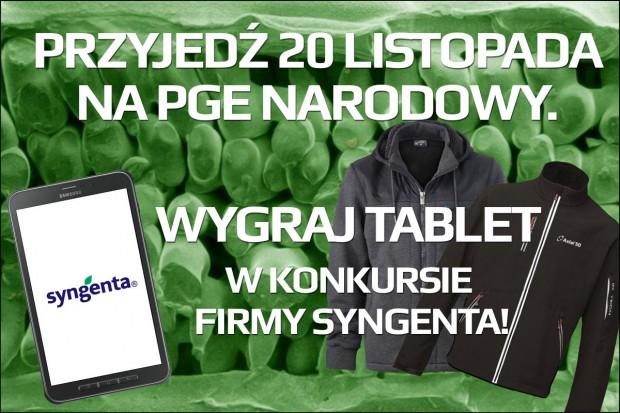 Przyjedź 20 listopada na PGE Narodowy. Wygraj tablet w konkursie firmy Syngenta!