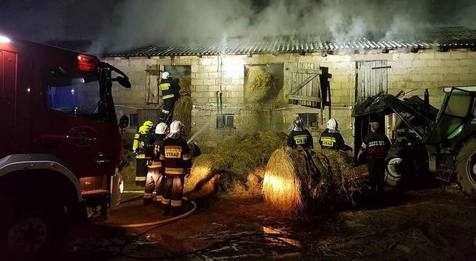 Pożar gospodarstwa na Pomorzu
