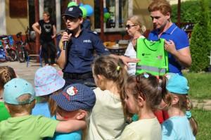 Lekcje o bezpieczeństwie prowadzone były wspólnie z policjantami
