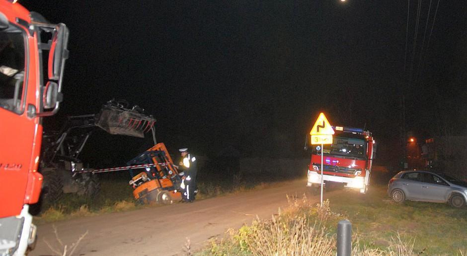 Tragiczny wypadek pod Łęczycą. Mężczyzna zginął pod wózkiem widłowym
