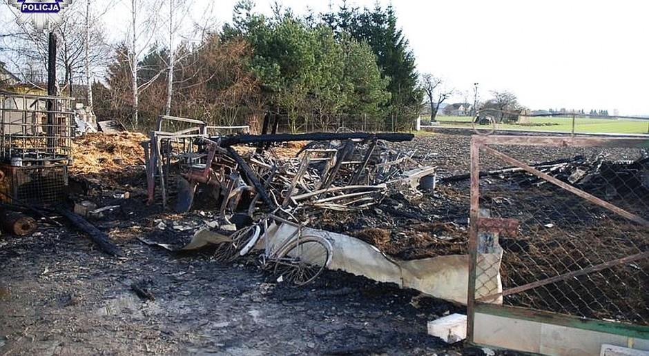W Nowy Rok podpalił rolnikowi stodołę