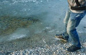 Przed wchodzeniem na lód przestrzegają ratownicy