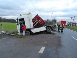 Kierowca nie zdołał zapanować nad pojazdem.