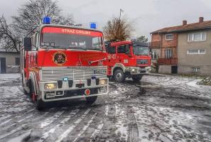 W akcji ratunkowej wzięły udział dwa zastępy strażaków.