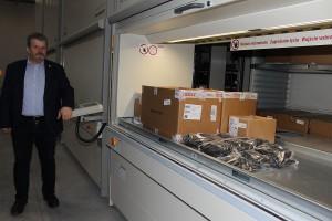 Realizację zamówień usprawnią zautomatyzowane regały w nowym magazynie części zamiennych.