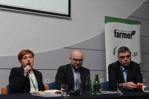 (od lewej) Barbara Wilczek z UPEMI, Grzegorz Rykaczewski z BZ WBK, Piotr Kołodziejczyk z POLSUS