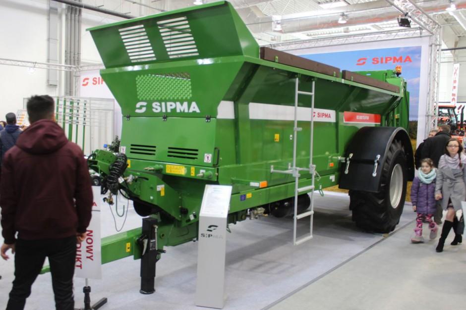 Nowość. Rozrzutnik obornika Sipma RO 800 Tajfun; 8 ton ładowności, 9 m3; 92.127 zł brutto