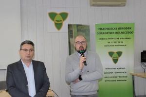 Od lewej: Dyrektor Oddziału MODR Poświętne - Jarosław Grabowski oraz Prezes PZHiPBM – Jacek Zarzecki.