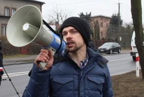 Akcją protestacyjna w Błaszkach kierował Michał Kołodziejczak, lider Unii Warzywno-Ziemniaczanej