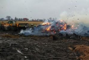 Pożar sterty słomy pod Golubiem-Dobrzyniem