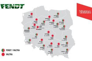 Sieć dealerska Valtry i Fendta (stan na 16.03.2018)