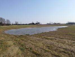 W regionie tym są miejsca gdzie jeszcze woda stagnuje na polu; Fot. A. Kobus