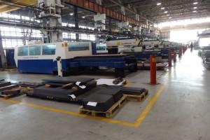 Łącznie firma posiada 16 wycinarek plazmowych wycinających elementy z blach o grubościach od 0,5 do 20 mm