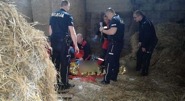 Rolnik powiesił się w stodole. Uratowali go policjanci