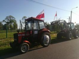 Protest rolników zapowiedziano również na drodze krajowej nr25, aby blokować ruch między Ostrowem Wlkp. a Nowymi Skalmierzycami, fot. R. Kobus