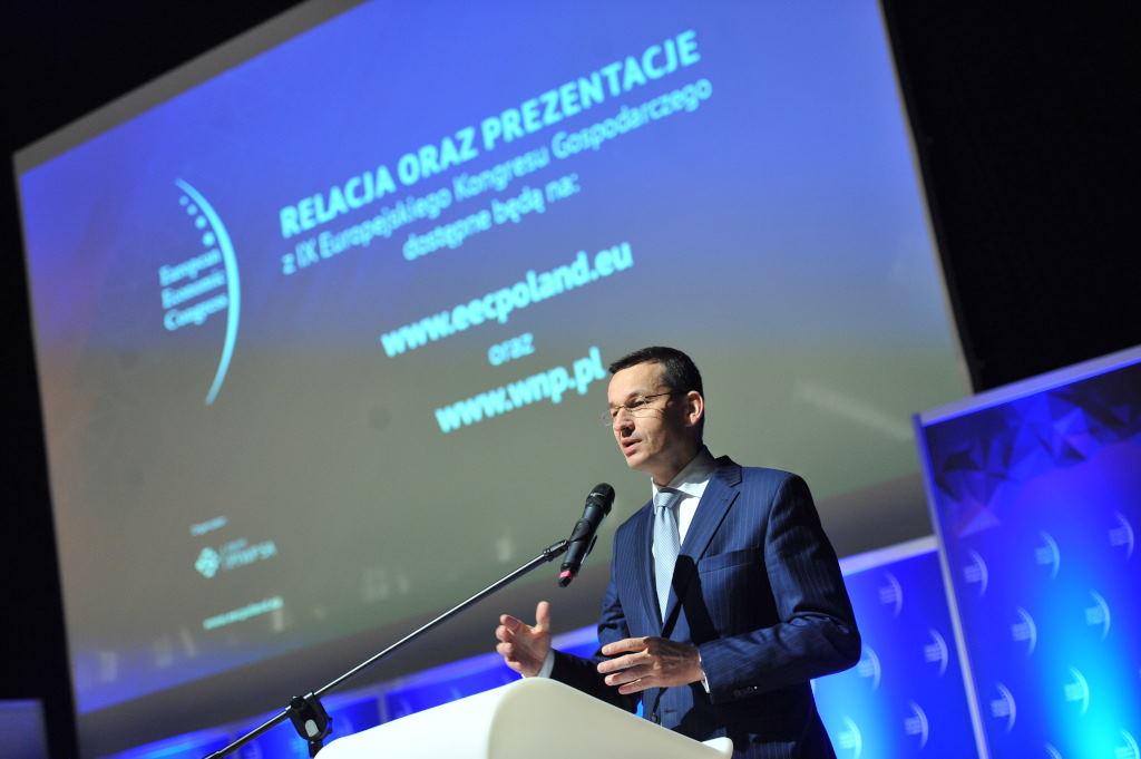 Mateusz Morawiecki podczas Europejskiego Kongresu Gospodarczego w 2017 r.