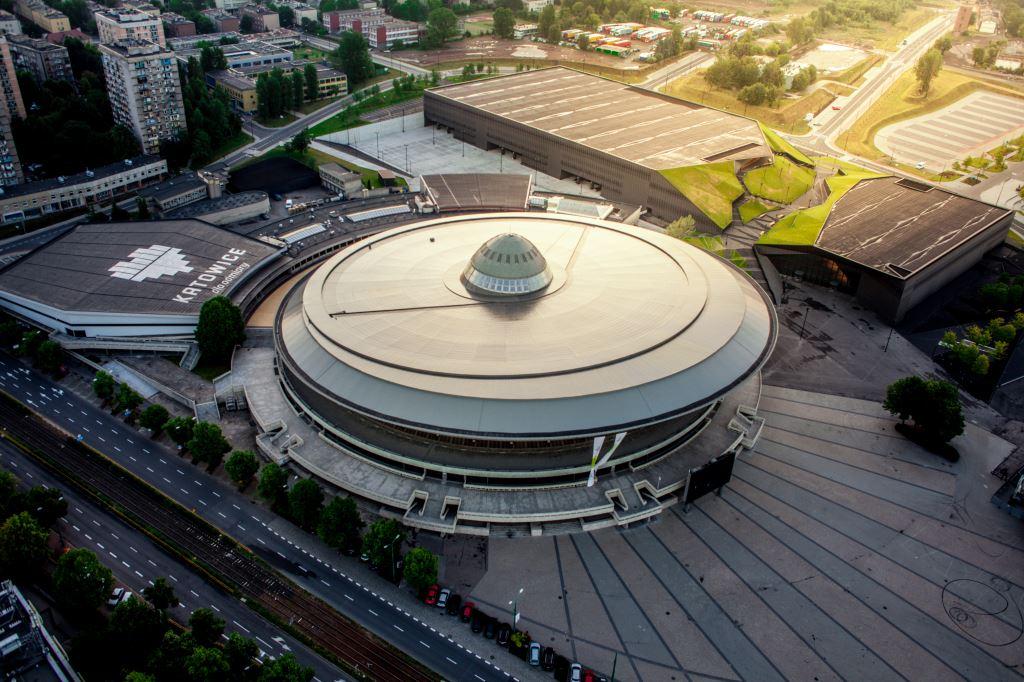 Katowicki spodek oraz Międzynarodowe Centrum Konferencyjne
