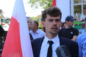 Micha Kołodziejczak, prezes Unii Warzywno-Ziemniaczanej.