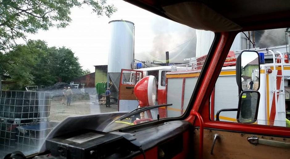 Pożar zakładu mięsnego pod Lututowem