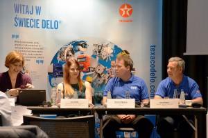 O wprowadzeniu na polski rynek nowych produktów marki Texaco Delo poinformowali dziennikarzy przedstawiciele firmy: Shawn Witacre i Bryan Hayes. Twarzą marki jest gwiazda programu Ice Road Truckers, Lisa Kelly