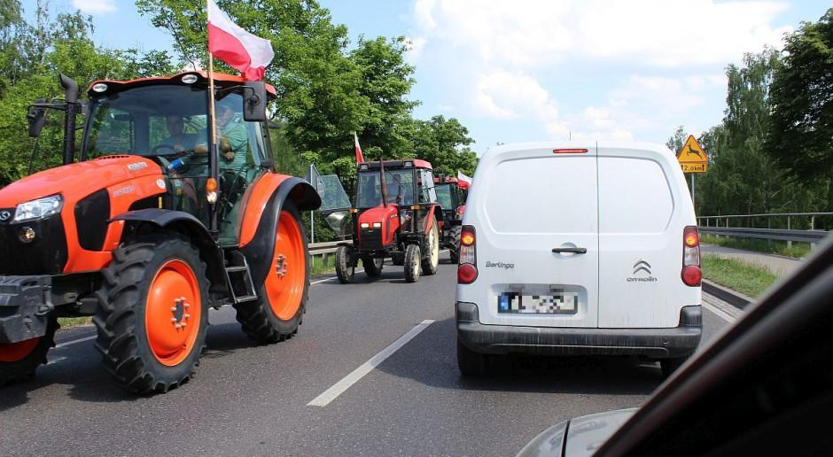 Plantatorzy truskawek protestowali w Płońsku