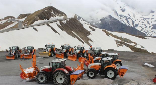 Traktory Steyr na alpejskich drogach