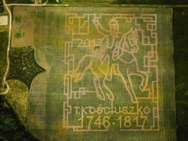 Zeszłoroczny labirynt w Kurozwękach; Fot.kurozweki.com