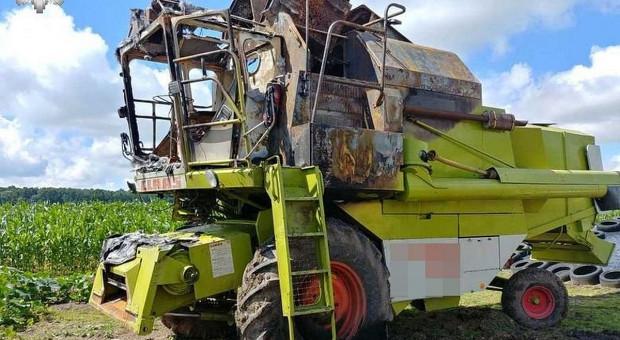 Dziadek podpalił kombajn i traktor, bo był zły na wnuka
