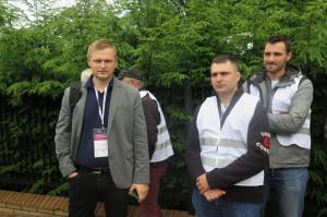 Od lewej Emil Sobiecki i Karol Kropiwiec, hodowcy z gm. Jabłoń