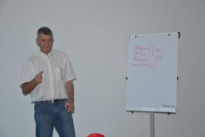 Michael Horsch podczas wykładu
