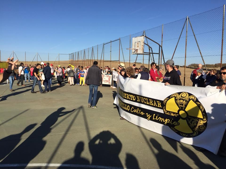 Protest przeciwko powstaniu kopalni - luty 2018 r.