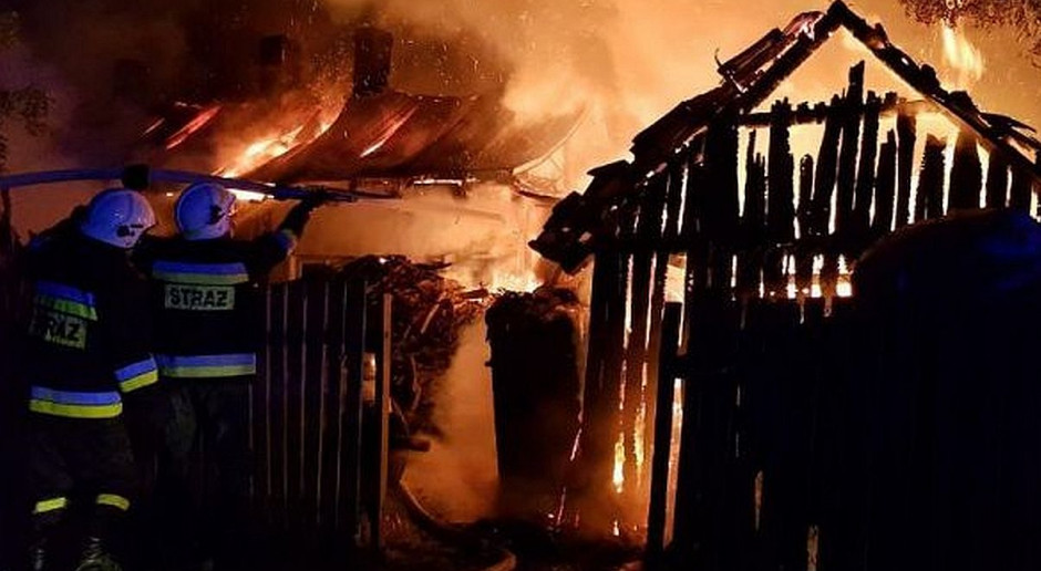 W pożarze chlewni pod Opolem Lubelskim zginęły zwierzęta