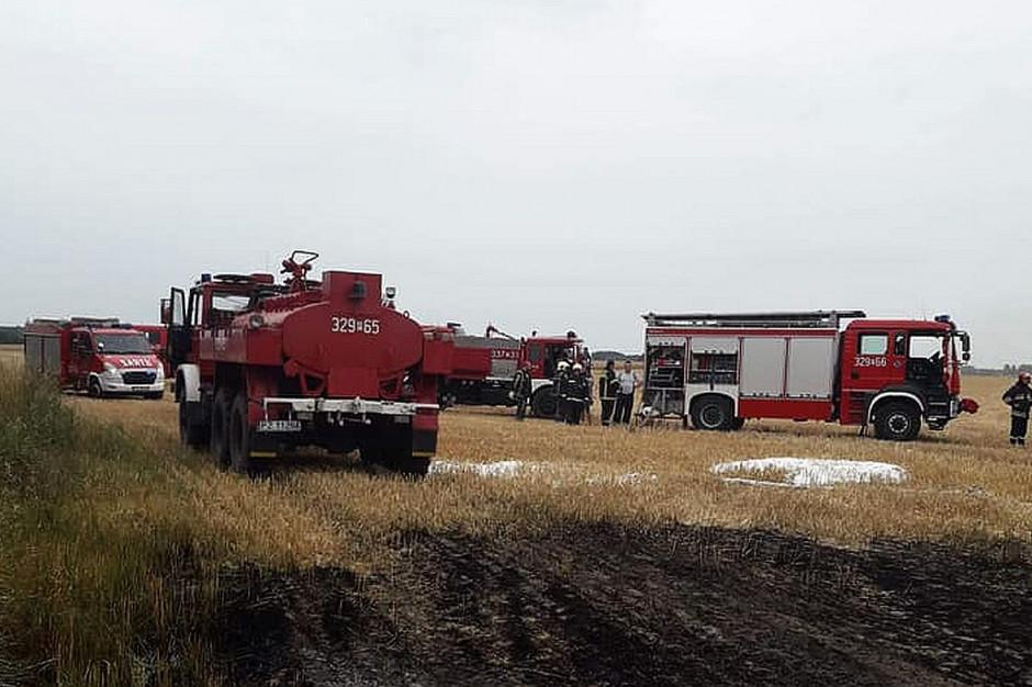 W akcji gaśniczej uczestniczyło 5 strażackich zastępów