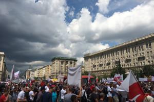 Rolnicy protestują w Warszawie